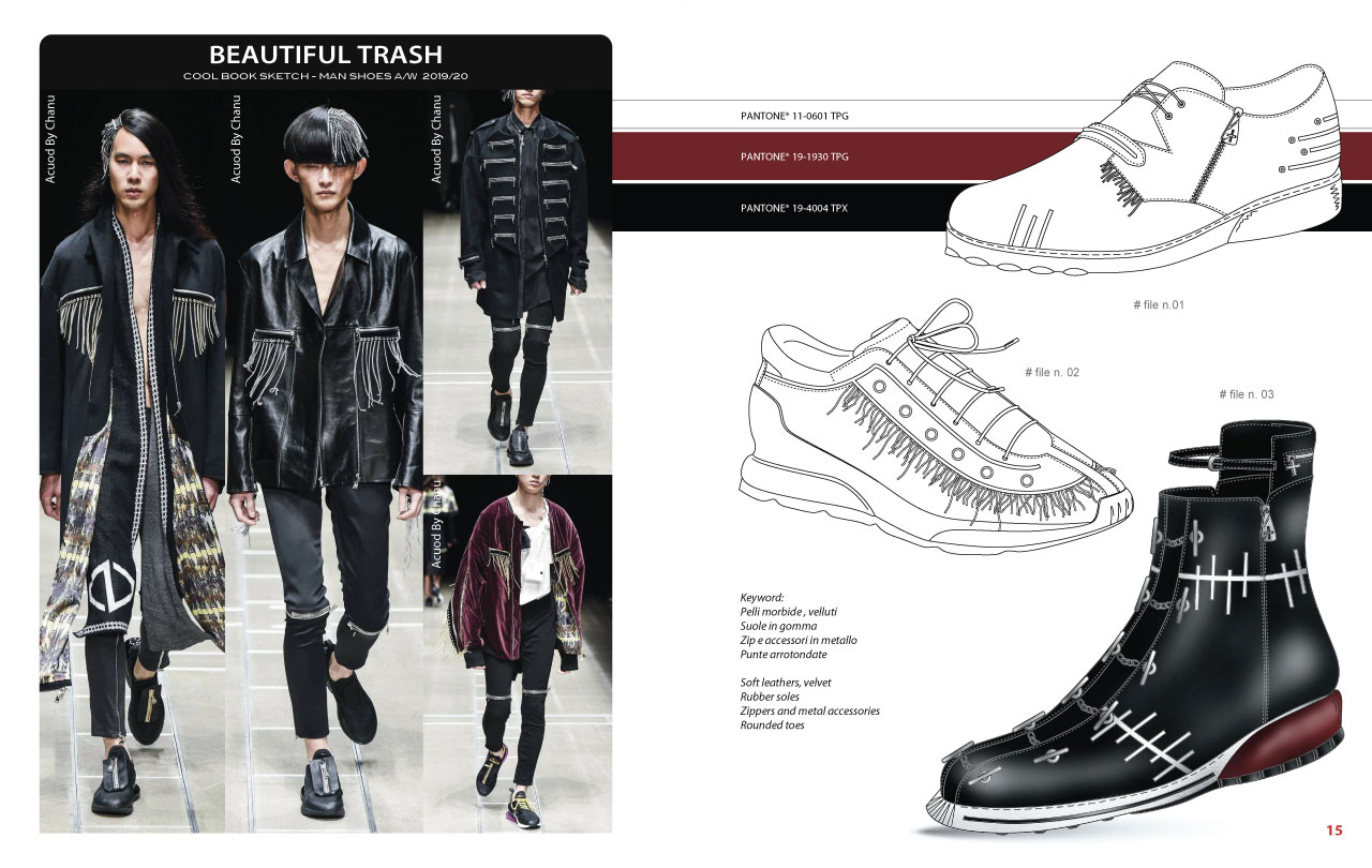 Mood Board - CoolBook Sketch Man Shoes A/W 2019/20 - Bag Trend Book
