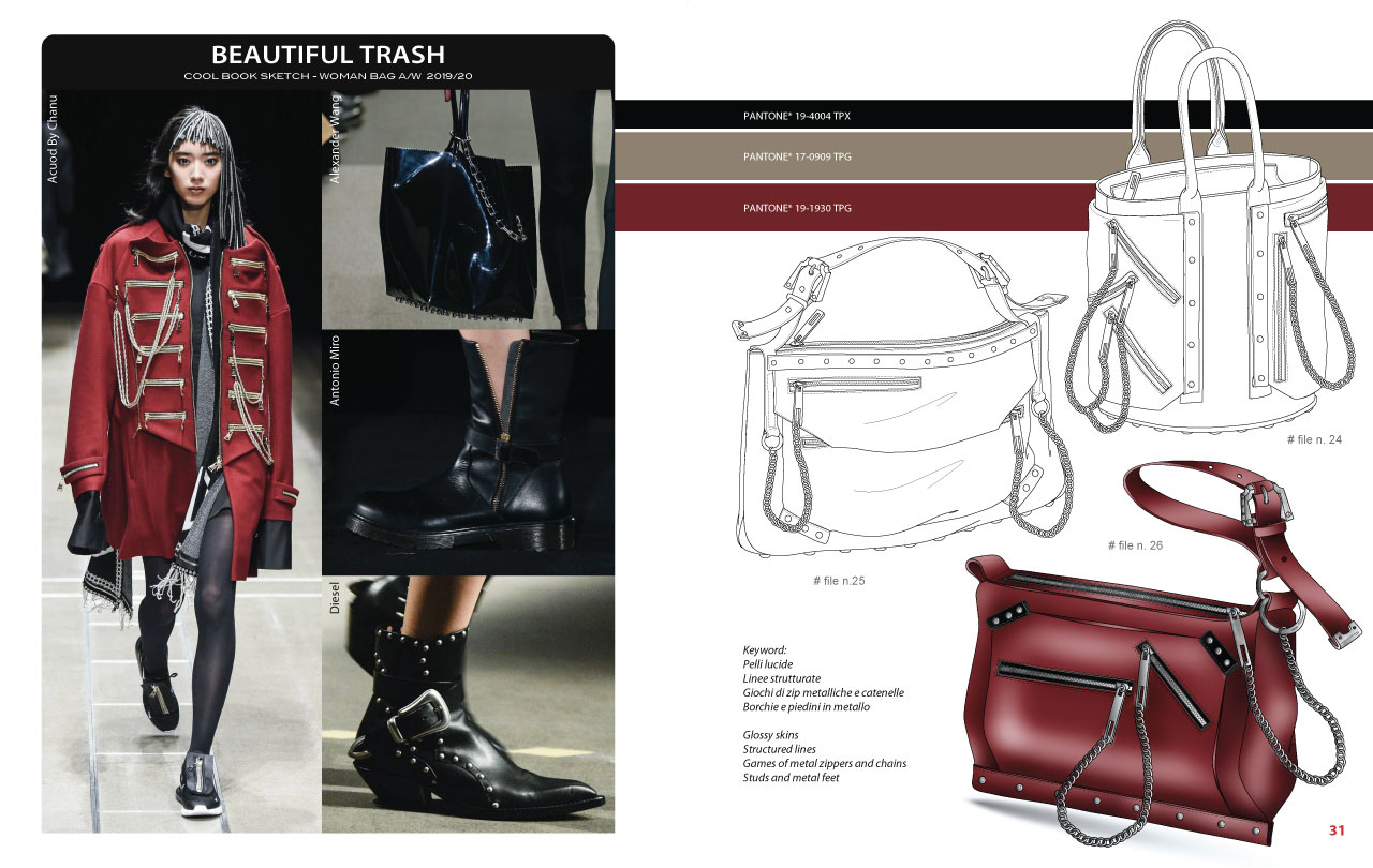 Mood Board - CoolBook Sketch Woman bags A/W 2019/20 - Bag Trend Book